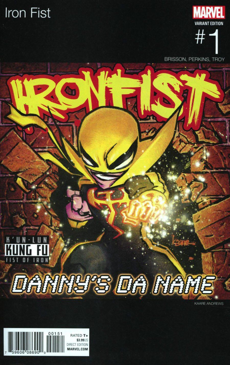 Iron Fist # 1 Hip Hop Variant