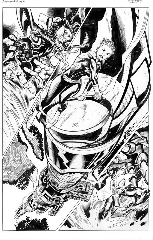Avengers # 2 pg 2 /  4th Print Cover
