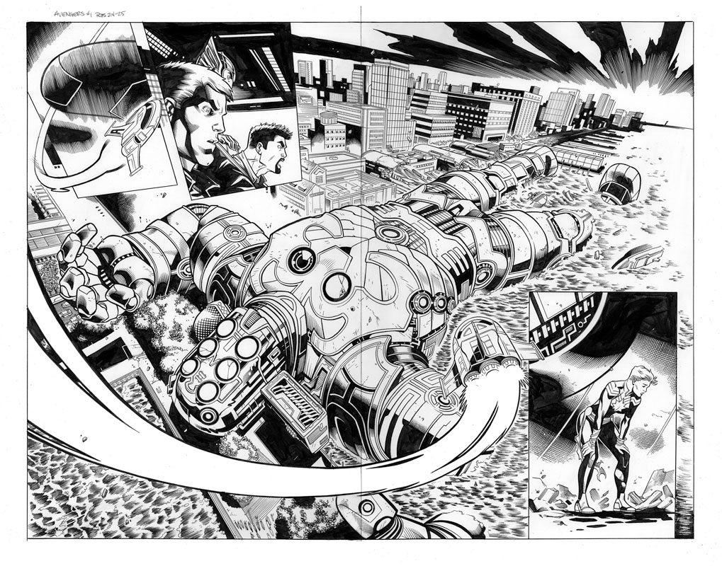 Avengers # 1 pg24 & 25
