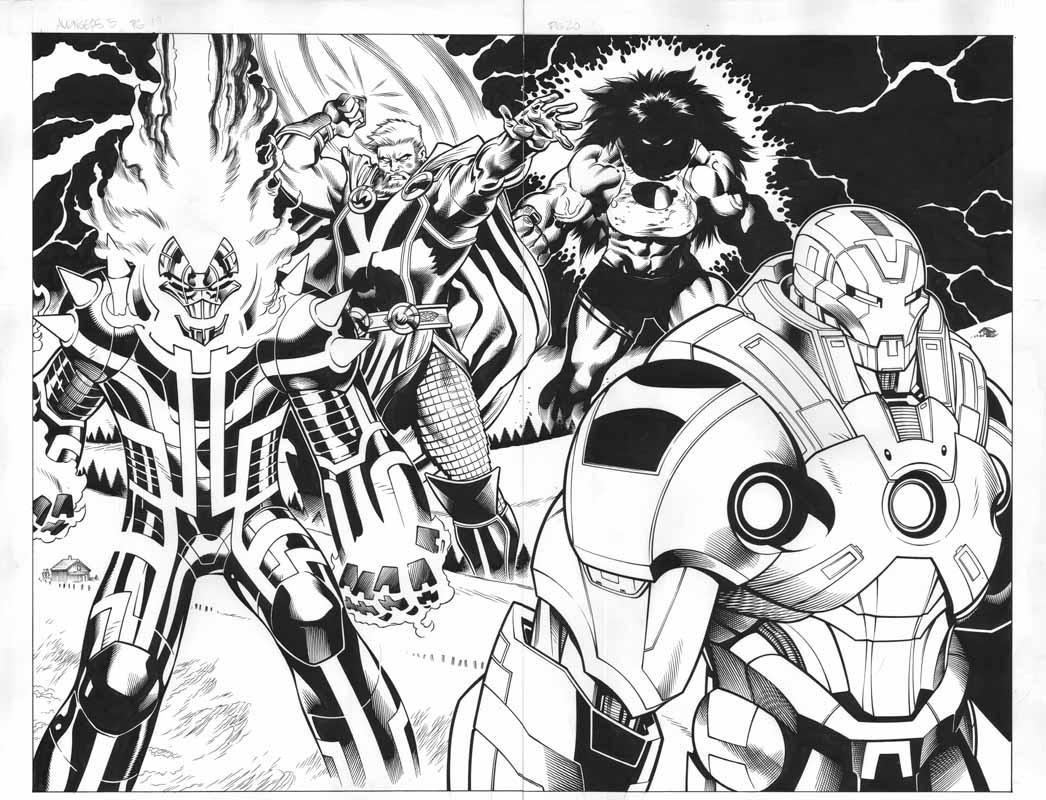 Avengers # 5 pg 19 & 20