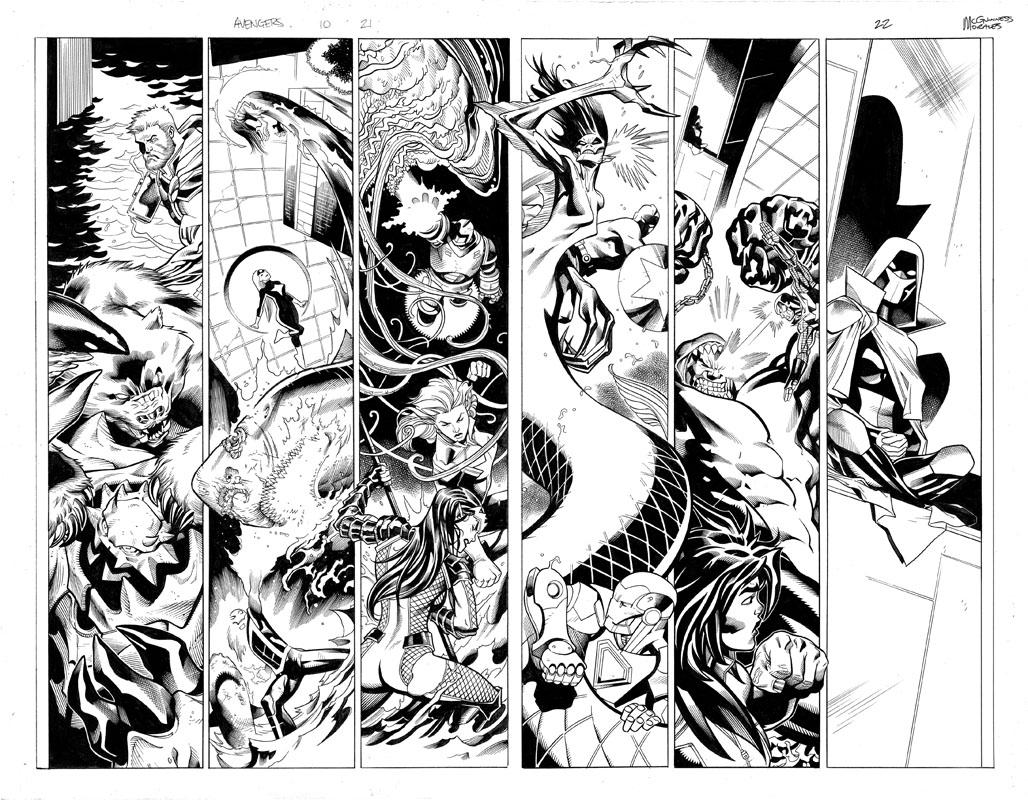 Avengers #10 pg21 & 22
