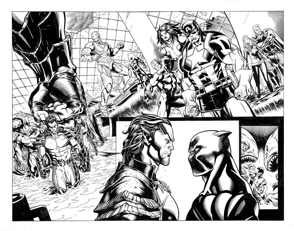 Avengers #10 pg13 & 14