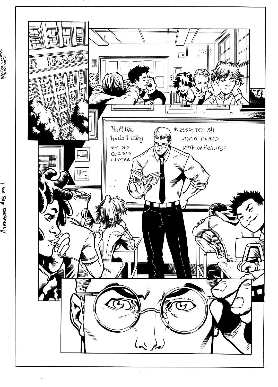 Avengers #18 pg 1