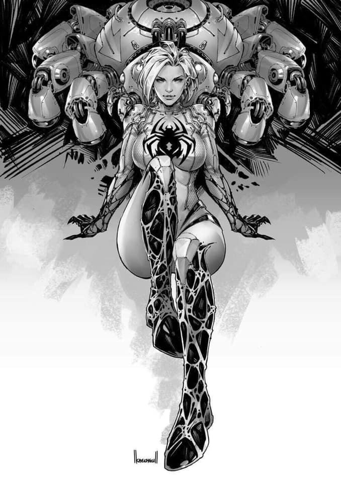 White Widow # 1 B&W