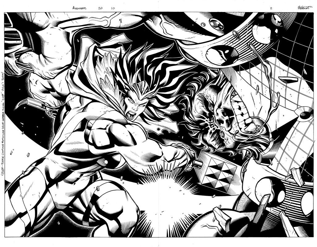 Avengers #20 pg10 & 11