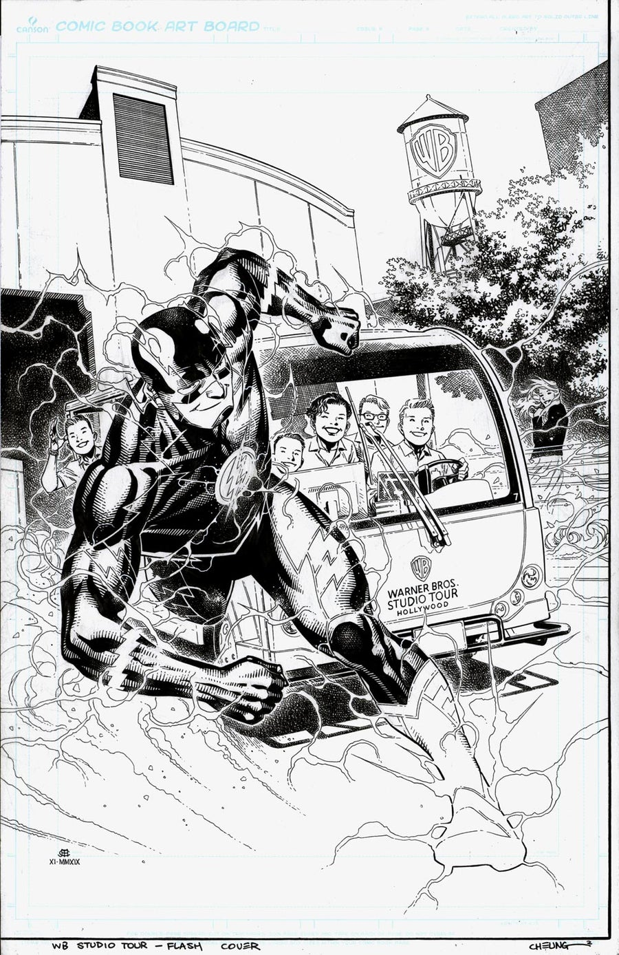 Flash: Lightning Strikes Twice WB Exclusive TPB Cover
