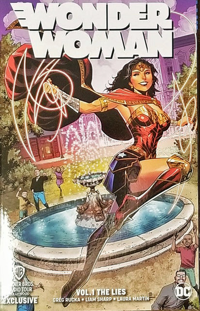 Wonderwoman: The Lies WB Exclusive TPB Cover